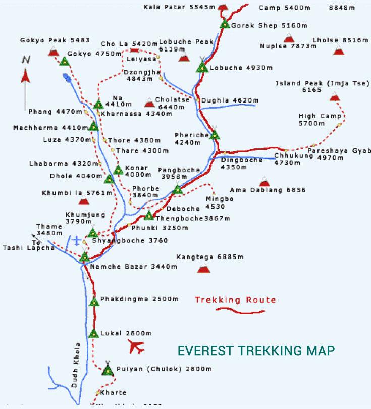 Everest Panorama Trekking Map
